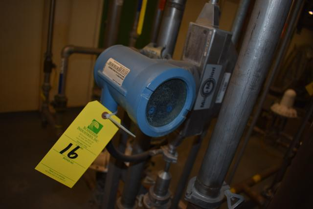 Lot 16 - Micromotion #HO25F Series Flow Meter, RIGGING FEE $50
