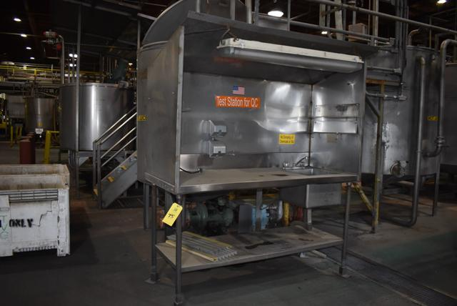 "Lot 75 - Stainless Steel Test Station, 72"" x 30"" x 72"", RIGGING FEE $50"