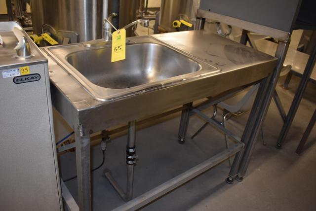 Lot 55 - Stainless Steel Sink, Single Basin, RIGGING FEE $15