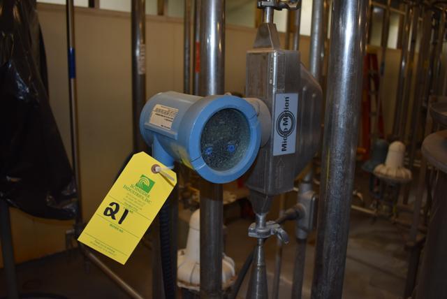 Lot 21 - Micromotion #HD25S12 Series Flow Meter, RIGGING FEE $50