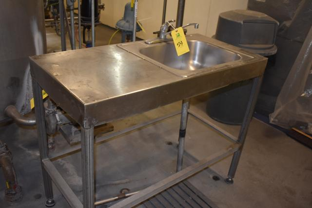 Lot 54 - Stainless Steel Sink, Single Basin, RIGGING FEE $15