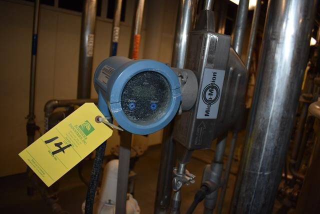 Lot 14 - Micromotion #HO25S Series Flow Meter, RIGGING FEE $50