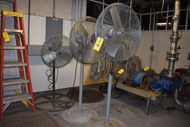 Lot 59 - (2) Pedestal Fans/TPI and Dayton - Assorted, RIGGING FEE $25