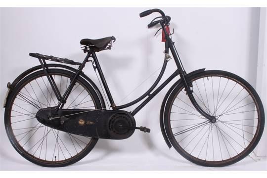 A vintage ladies loop frame bicycle, complete with the original ...