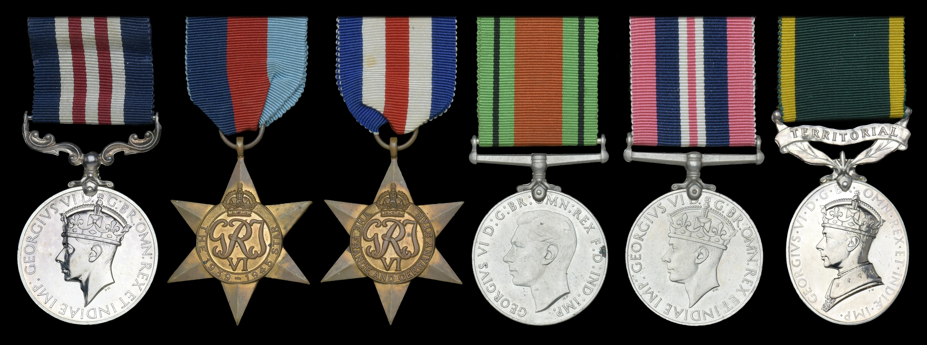 Lot 153 - Groups and Single Decorations for Gallantry