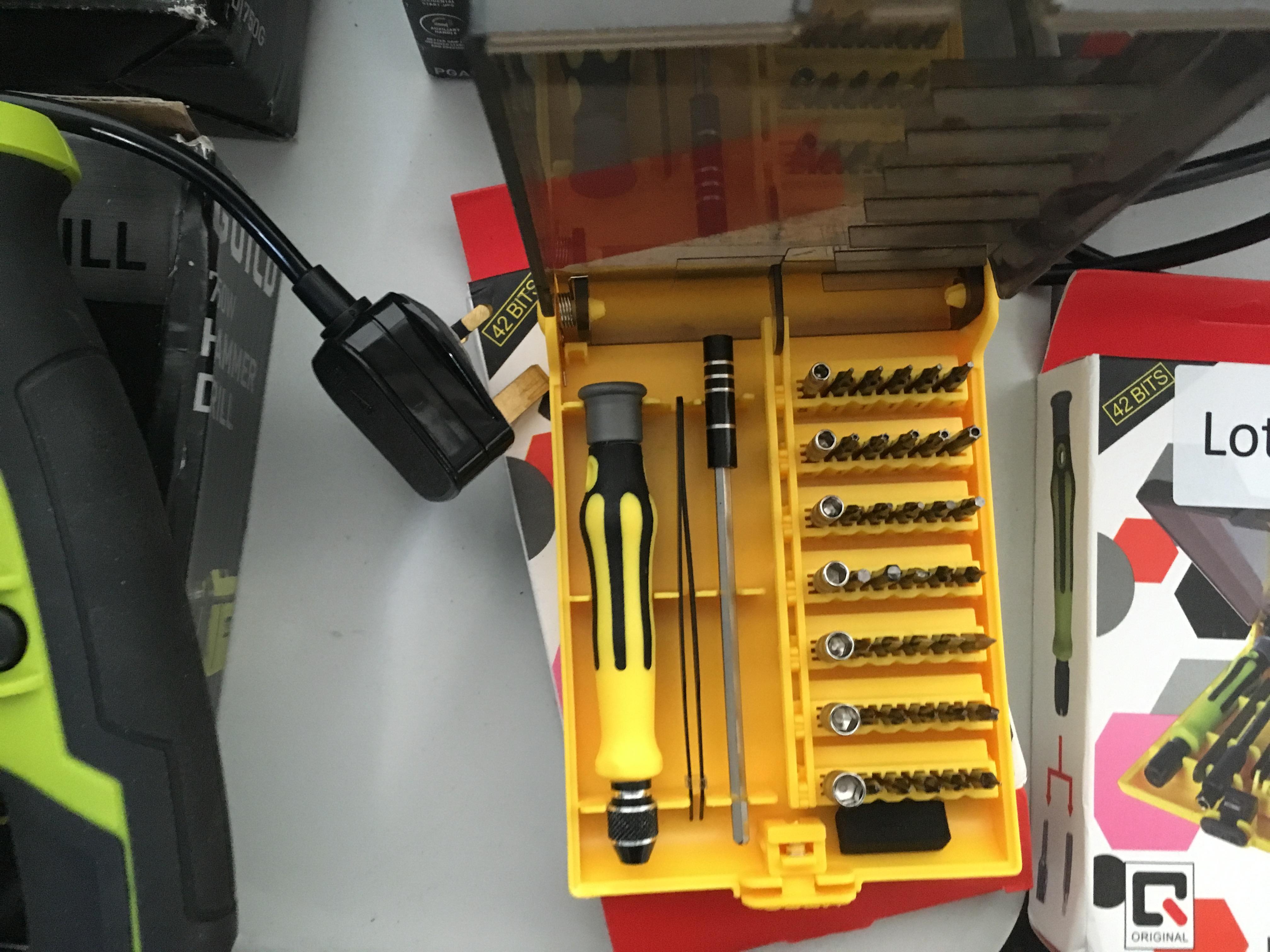 Lot 55 - 45 piece interchangeable precision manual tool set. New.