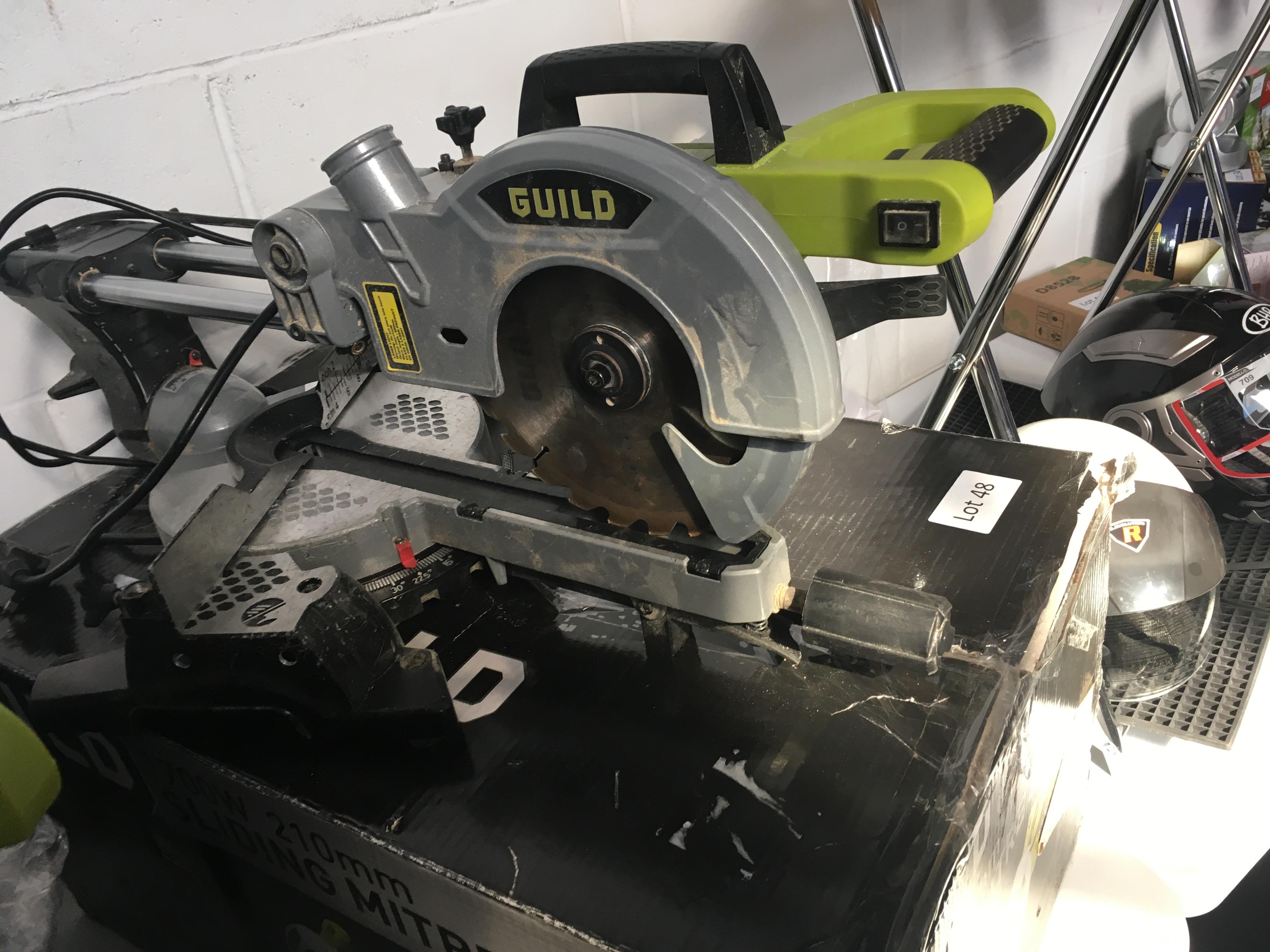 Lot 48 - Guild 1700W / 210mm sliding mitre saw. Working customer return.