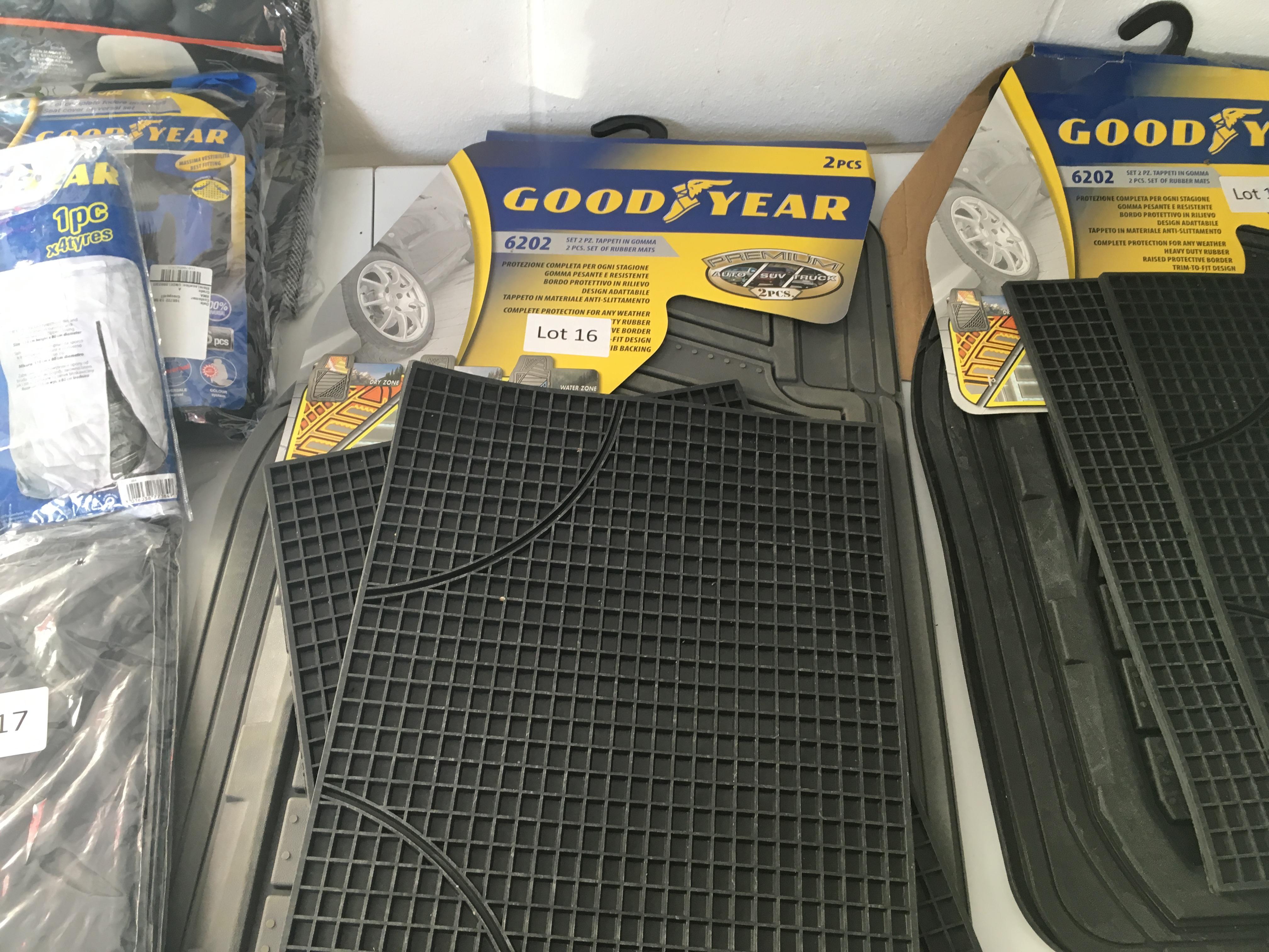 Lot 16 - GoodYear 2 piece all-weather car mats. New.