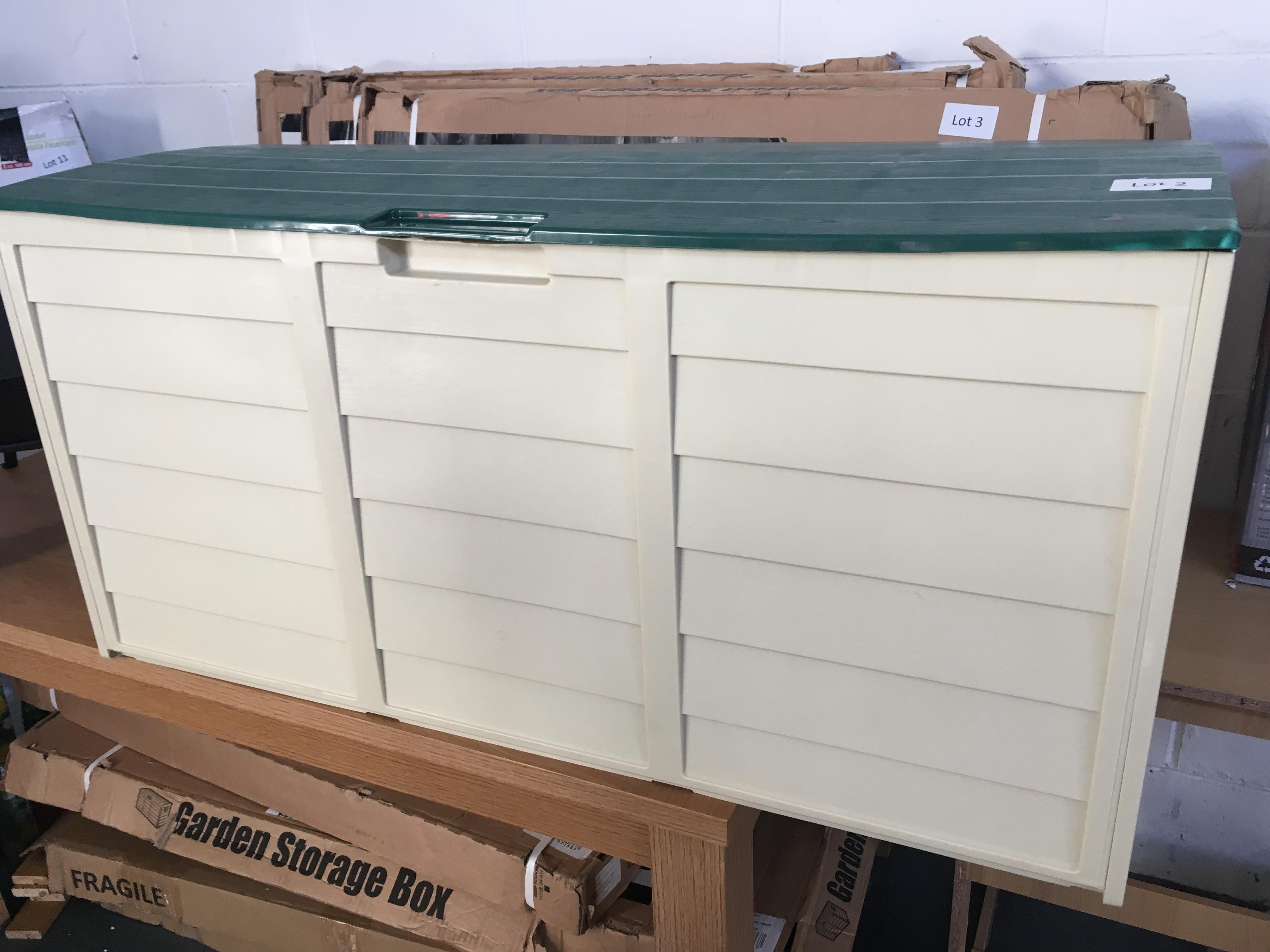 Lot 2 - 227 litre garden storage box. Customer return.