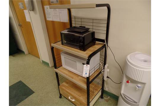 Lot Portable Cart Wmicrowave Toaster Oven No Water Cooler