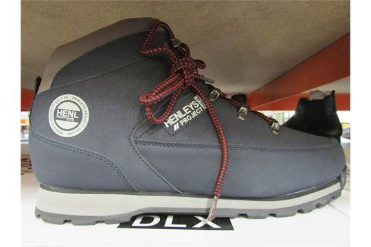 4ebd1601451 Henleys Project Dlx Mens Hiking Boots In Suede Navy Blue (Uk Size: 9 ...