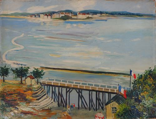 Los 49 - Elisée MACLET Normandy coast, around 1935 Oil on Isorel panel signed bottom [...]
