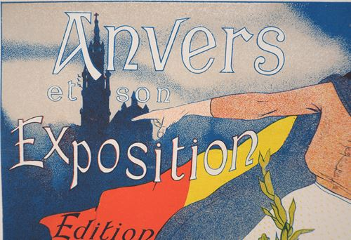 Los 10 - Henri EVENEPOEL Antwerp and its exhibition, 1897 Original lithograph in color on [...]