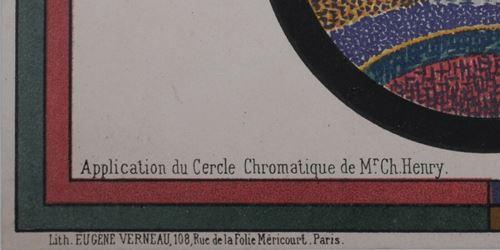 Los 59 - Paul Signac Application du Cercle Chromatique de Mr. Ch. Henry, 1888 Original color [...]