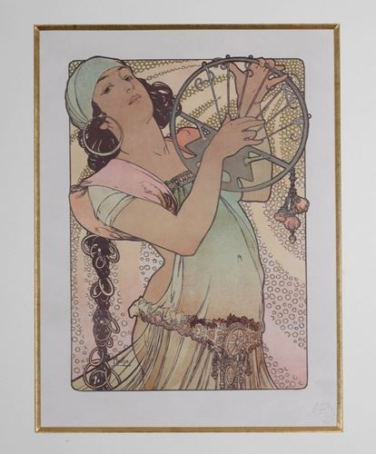 Los 1 - Alphonse Mucha Czech (1860-1939) Salome Original lithograph, issued by L'Estampe [...]
