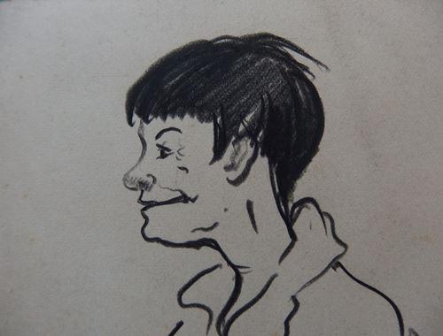 Los 33 - Georges MANZANA-PISSARRO Two portraits Lot of two original drawing Black [...]