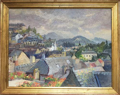 Los 51 - François BABOULET 1914-2010 Oloron Sainte-Marie Oil on canvas Stamp of estate on [...]