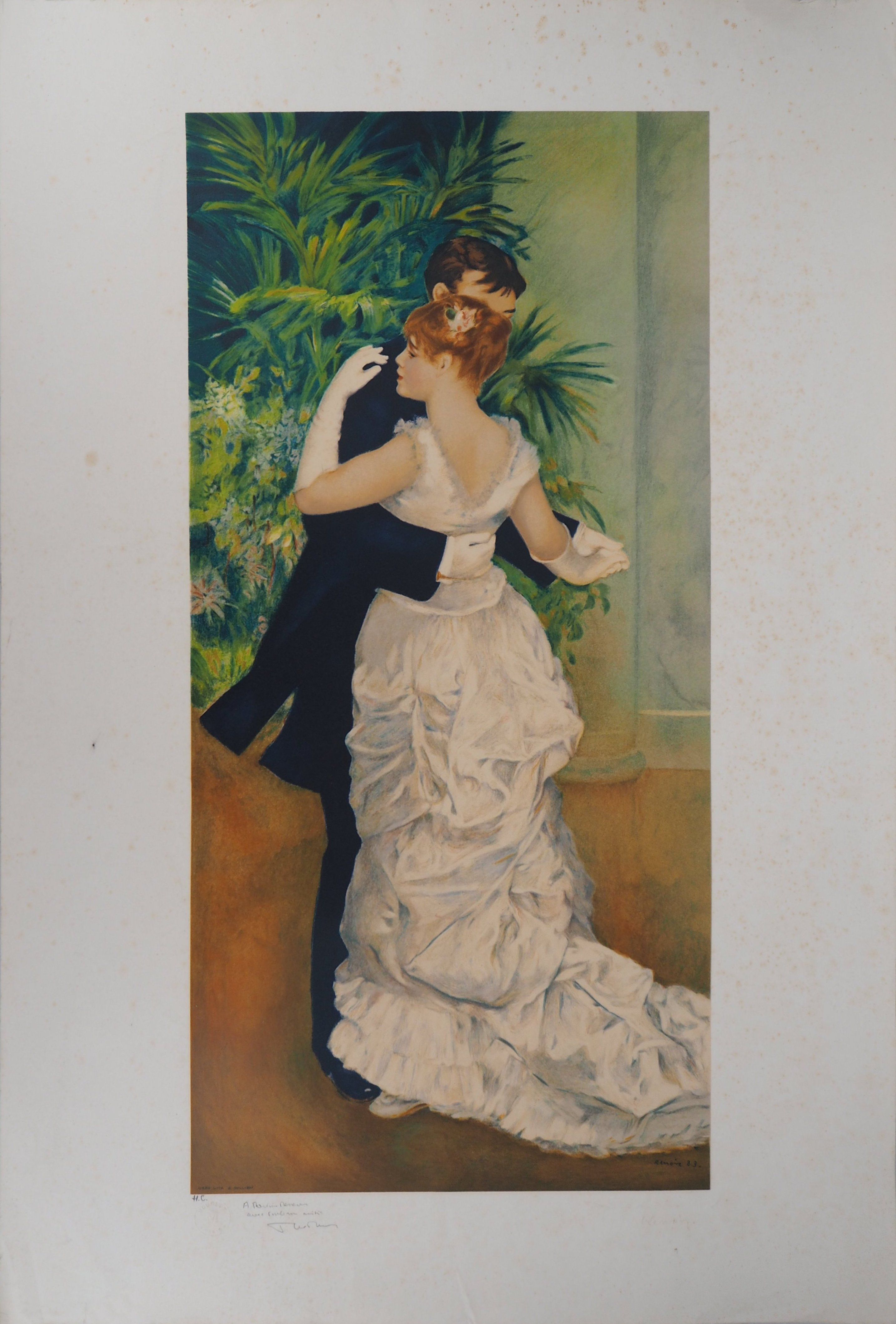 Los 26 - Pierre-Auguste RENOIR (after) Dance in the city Colour lithograph Signed in the plate [...]
