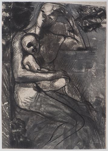 Los 29 - Auguste Rodin (after) Mother and son, 1897 Engraving (rotogravure reprised in point) [...]