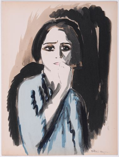 Los 56 - Kees VAN DONGEN Anger, 1925 Original stencil print on vélin paper. Signed in [...]