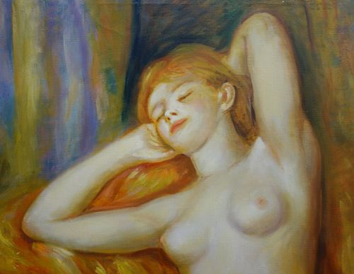 Los 27 - Pierre Auguste RENOIR (after) The sleeper Oil on canvas Dimensions: 76 x 55 cm Work [...]