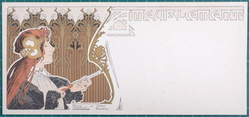 Los 11 - Privat Livemont, 1861 - 1936 Ameublement, 1895 Original Lithograph print with gold [...]