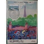 Kees VAN DONGEN The arrival of the Tour de France 1955 Lithograph on Vellum [...]