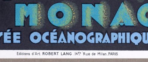 Los 14 - Jean Carlu Aquarium de Monaco Original lithograph small poster. Size (margin [...]