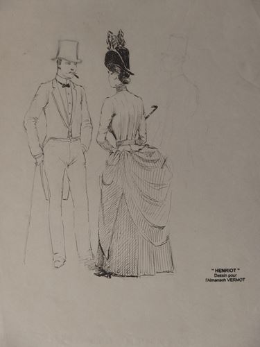 Los 12 - Henri MAIGROT, known as HENRIOT Fatal encounter, around 1895 Original drawing in [...]