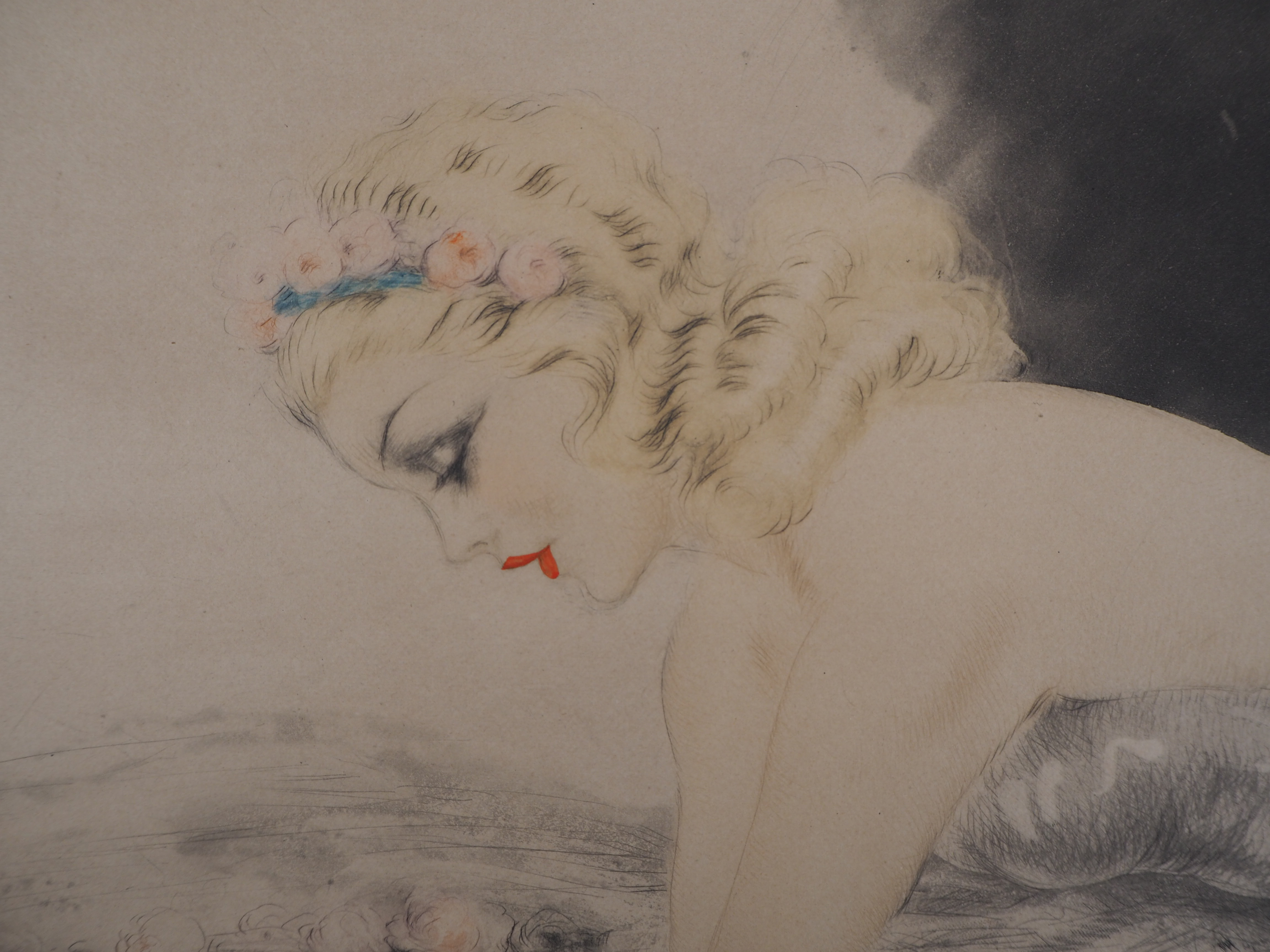 Los 16 - Louis ICART Music Hall, 1939 Engraving and aquatint on Rives Vellum Signed [...]