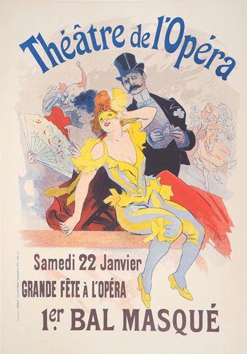 Los 15 - Jules Chéret Masquerade Ball (Théâtre de l'Opéra), 1897 Original colour [...]