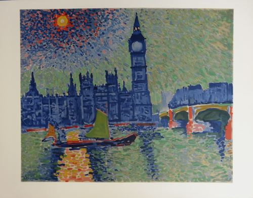 Los 43 - André DERAIN Big Ben Lithograph on vellum Arches paper, after a painting from [...]