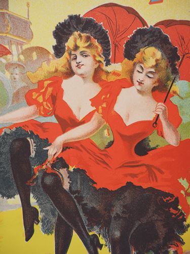 Los 21 - PAL (Jean DE PALEOLOGUE) The Can-can Dancers, 1895 Stone lithograph Printed [...]