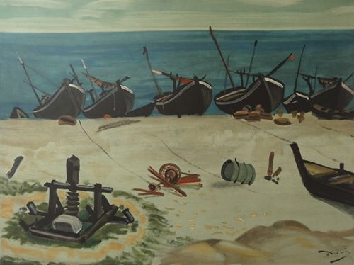 Los 42 - André DERAIN The small harbour Original signed engraving (1951) On Auvergne [...]