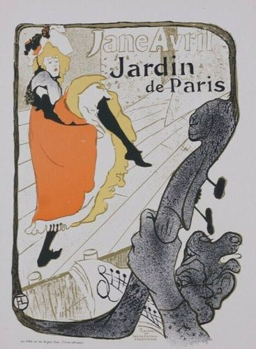 Los 9 - Toulouse Lautrec Jane Avril, circa 1896 Small size stine lithograph poster. This [...]