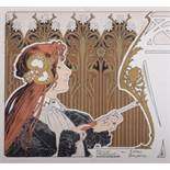 Privat Livemont, 1861 - 1936 Ameublement, 1895 Original Lithograph print with gold [...]