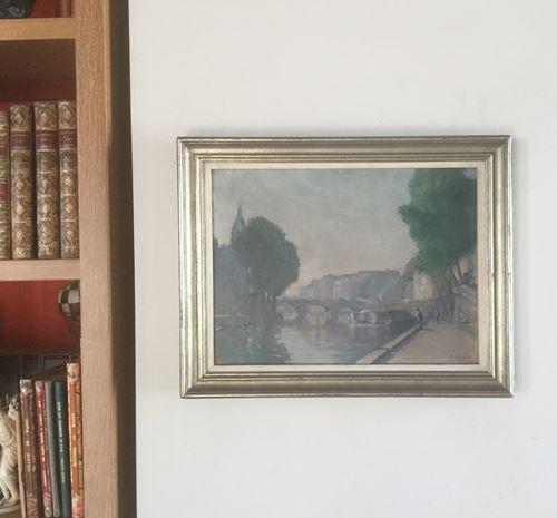 Los 50 - Eugène THIÉRY ( Réthel 1875 - Paris 1961) The Pont au Change, Paris Oil on [...]