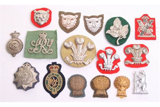 Selection of Yeomanry Arm Badges including 2x bullion Lothian and