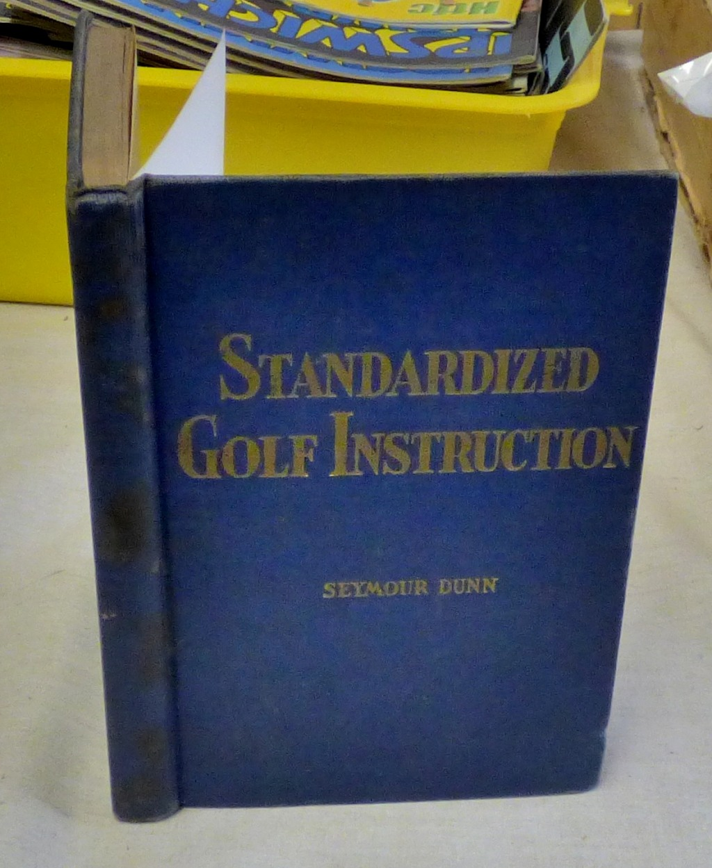 Lot 50 - Standardized Golf Instruction, Seymour Dunn, 1934, hardback, excellent condition.