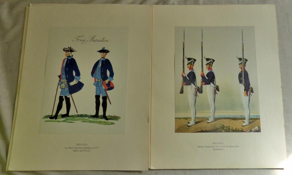 Lot 58 - Beautiful Picture book of Uniform of Famous German Regiments (8) full colour - excellent condition