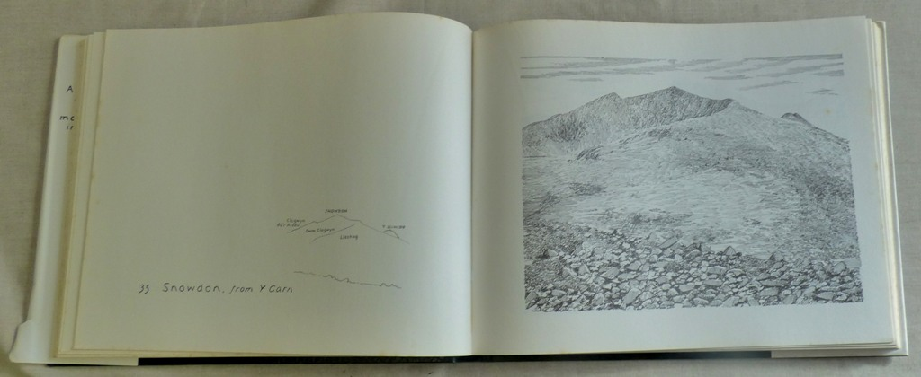 Lot 54 - Art Book - hardback of Welsh Mountain Drawings by A.Wainright 1981, a little foxing
