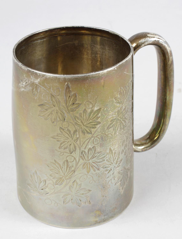 Lot 114 - A Victorian silver mug,