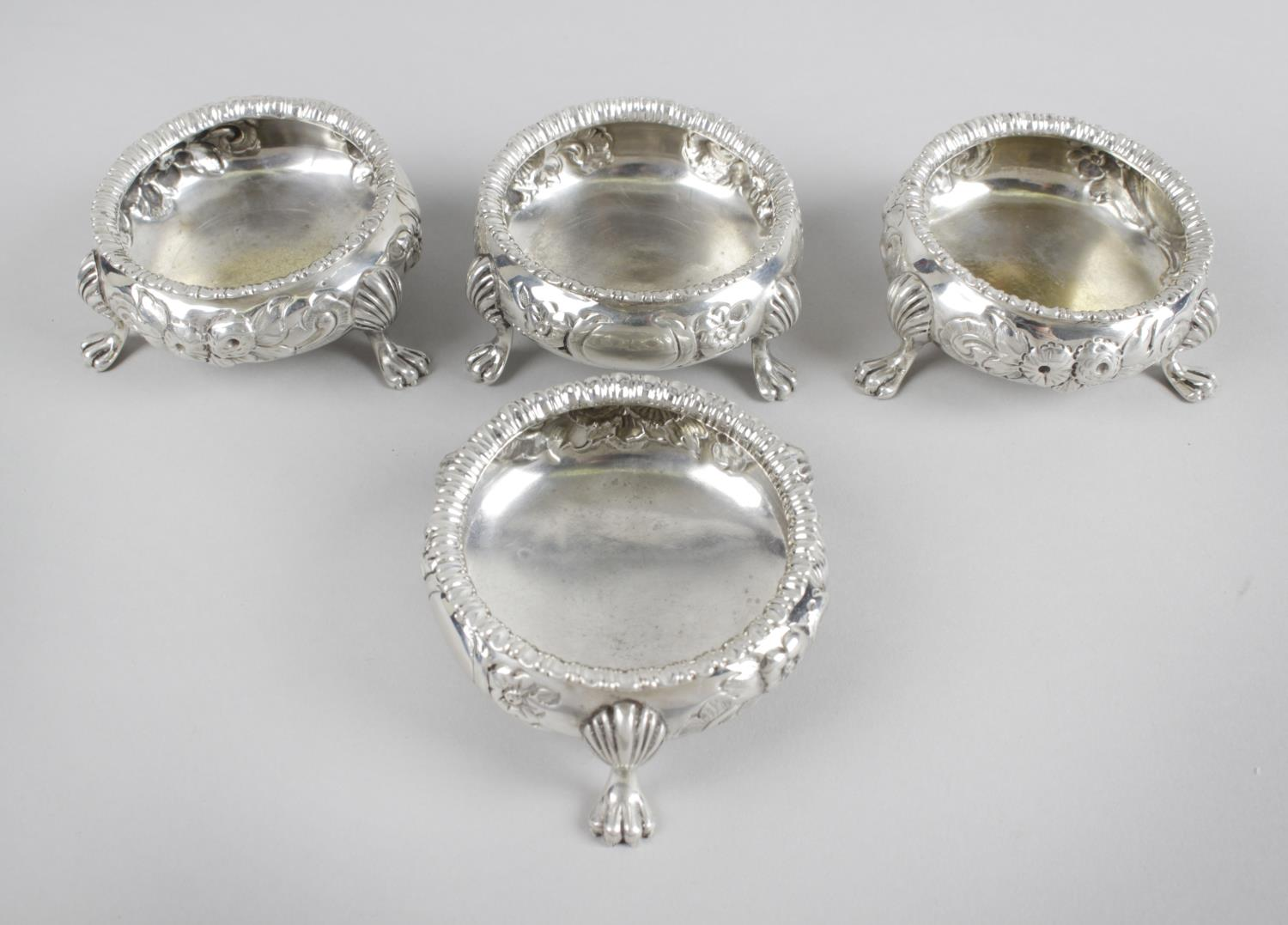 Lot 32 - A set of four mid-Victorian silver open salts,