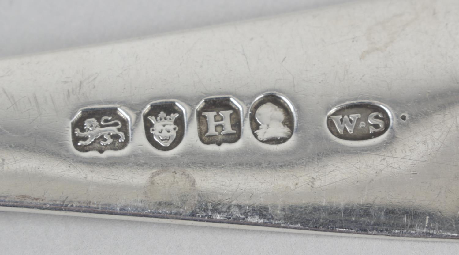 Lot 24 - A George III silver table spoon,