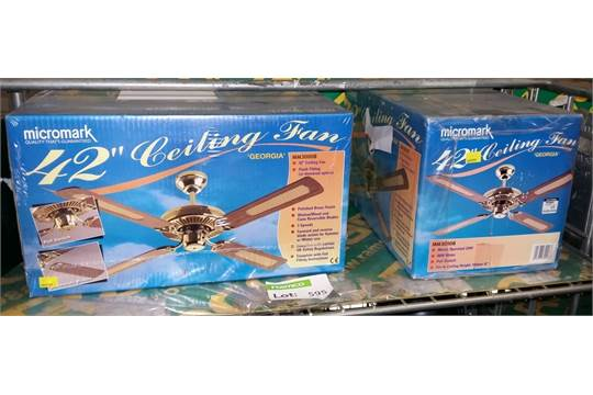2x micromark 42 georgia ceiling fan kits mozeypictures Choice Image