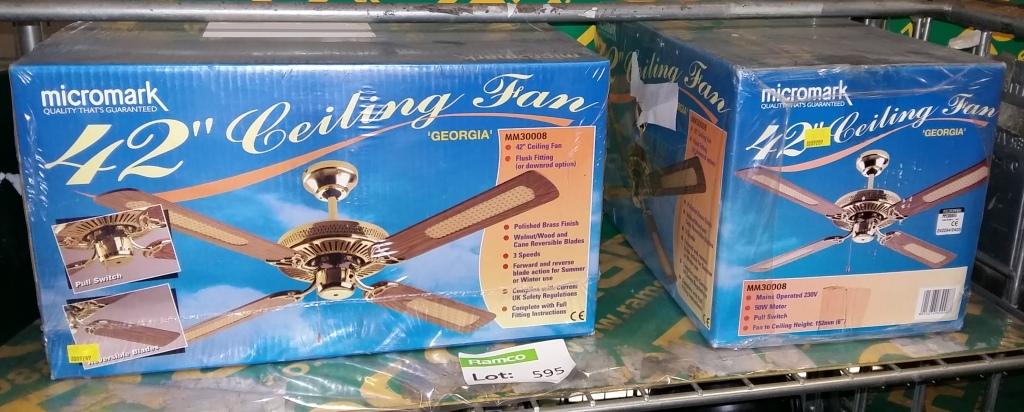 Micromark ceiling fan nakedsnakepress 2x micromark 42 georgia ceiling fan kits mozeypictures Choice Image