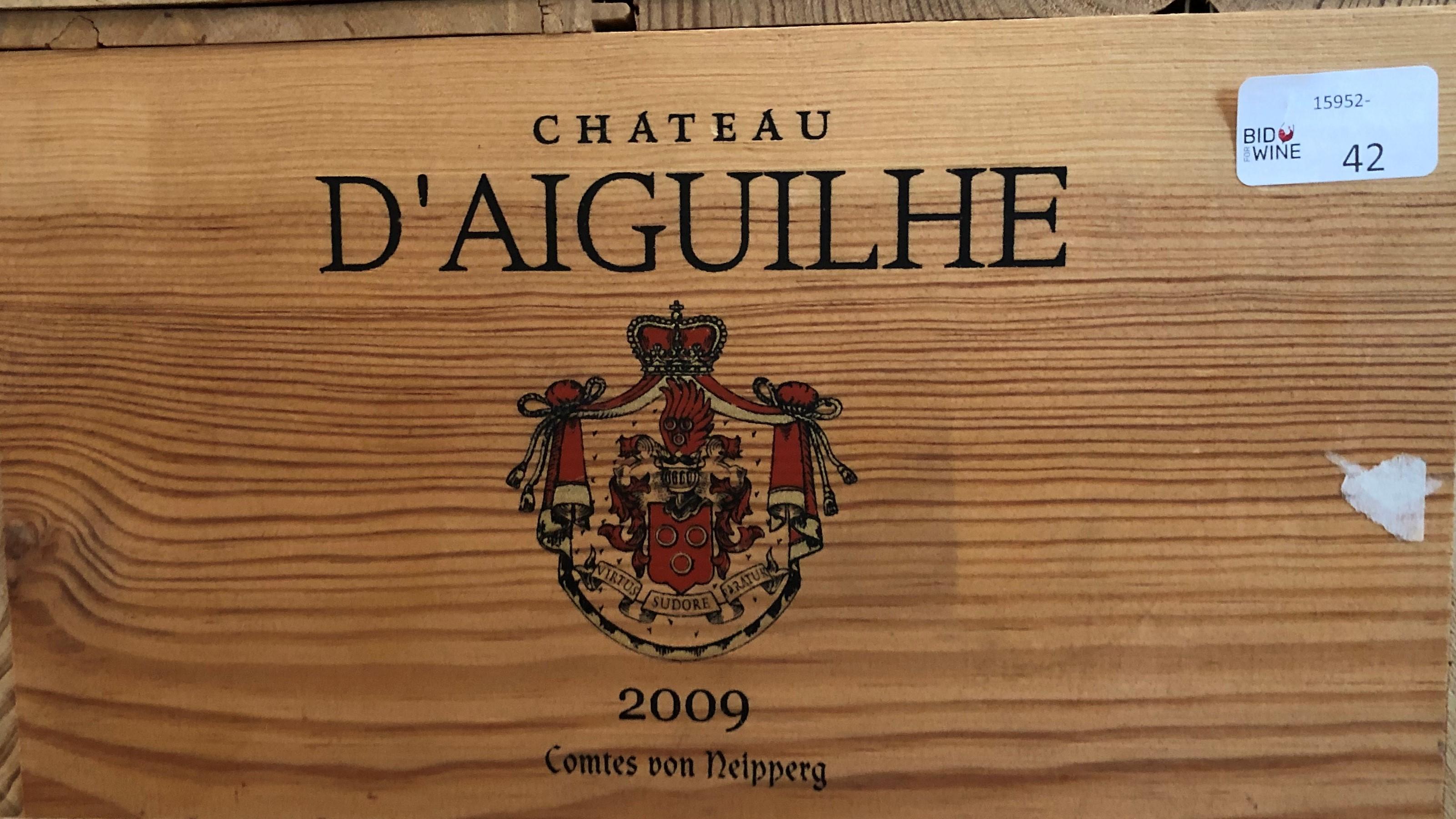 Lot 55 - 2009 Aiguilhe, von Neipperg, Bordeaux, France, 12 bottles