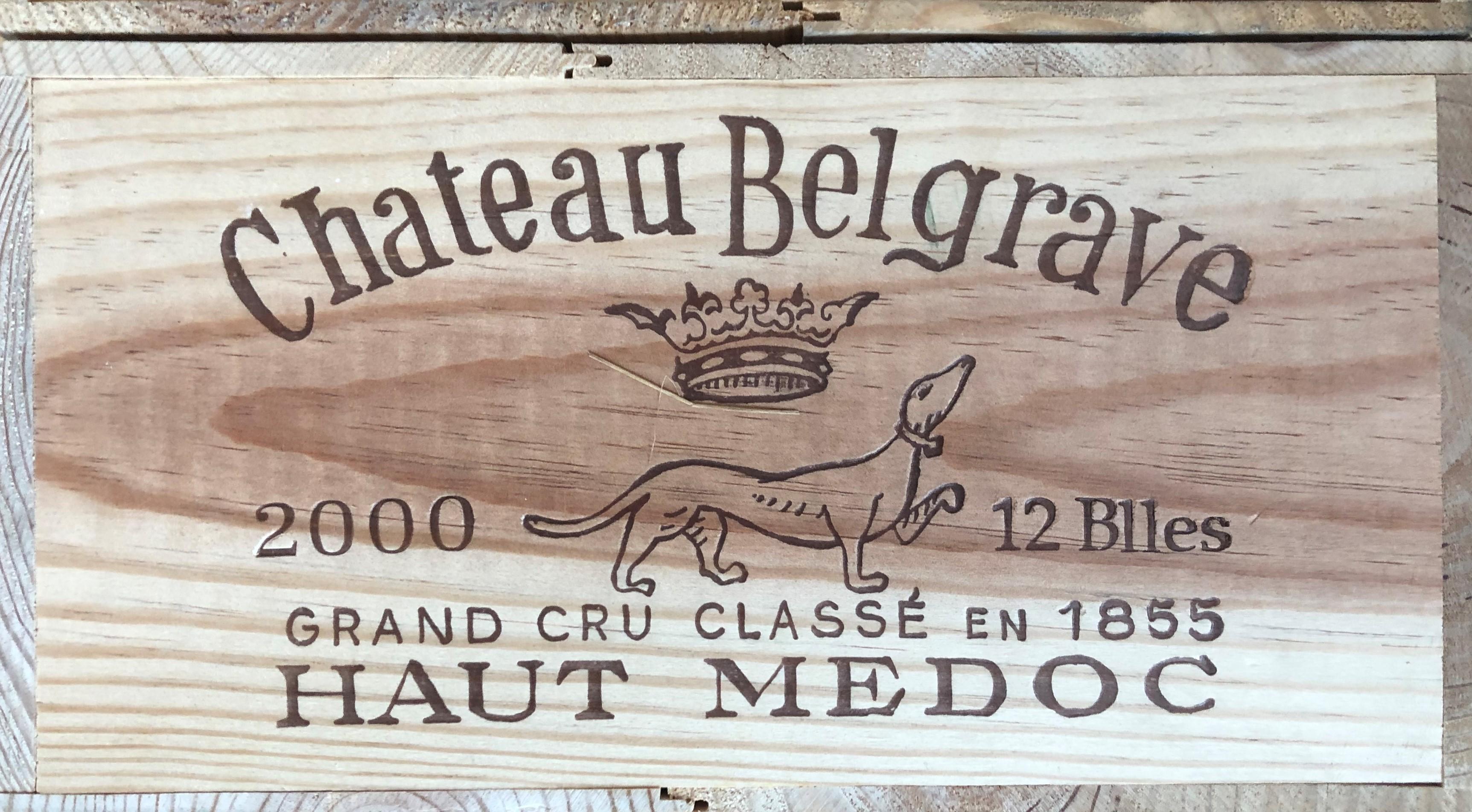 Lot 48 - 2000 Belgrave, Haut Medoc, Bordeaux, France, 12 bottles
