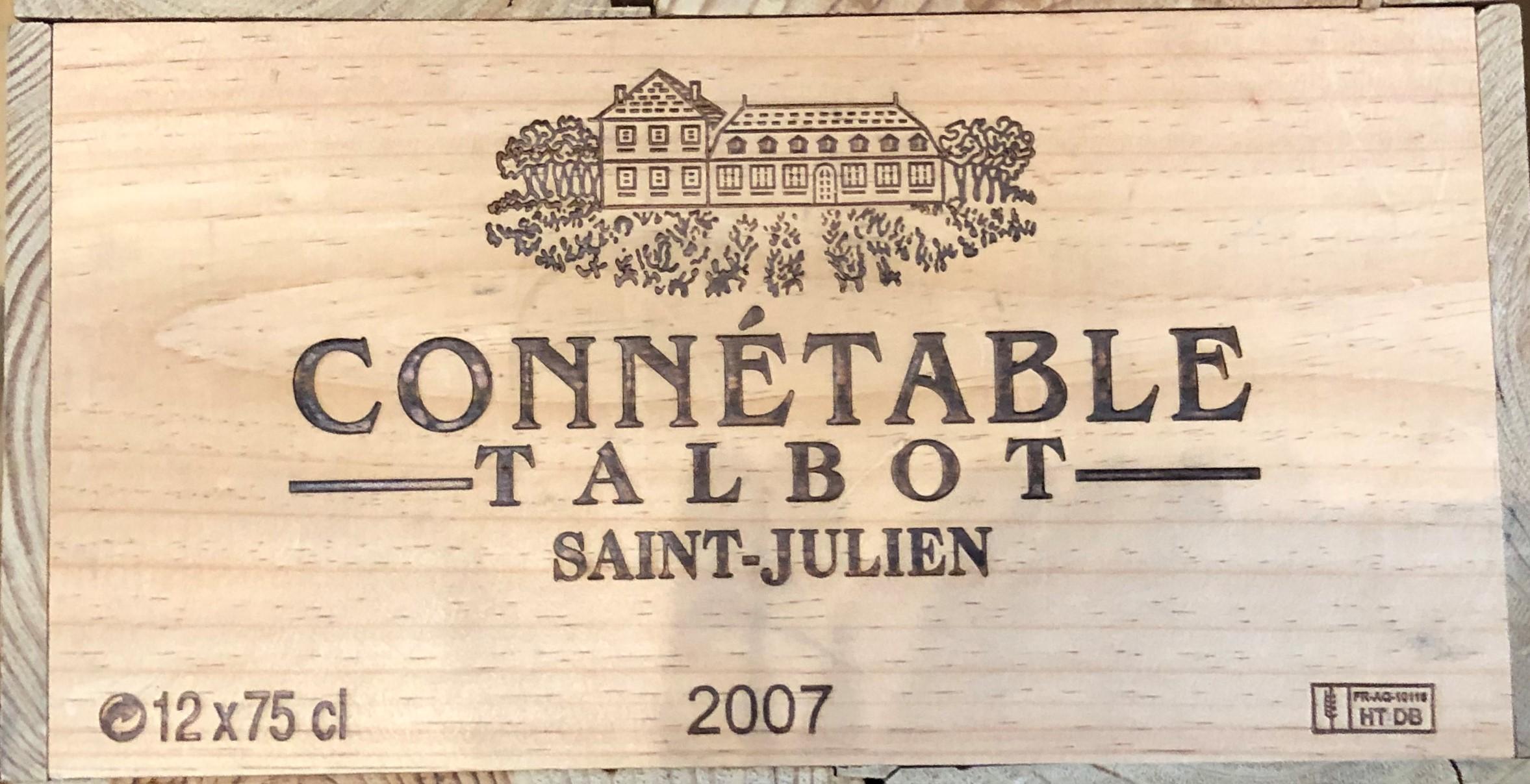 Lot 52 - 2007 Connetable de Talbot, St Julien, Bordeaux, France, 12 bottles