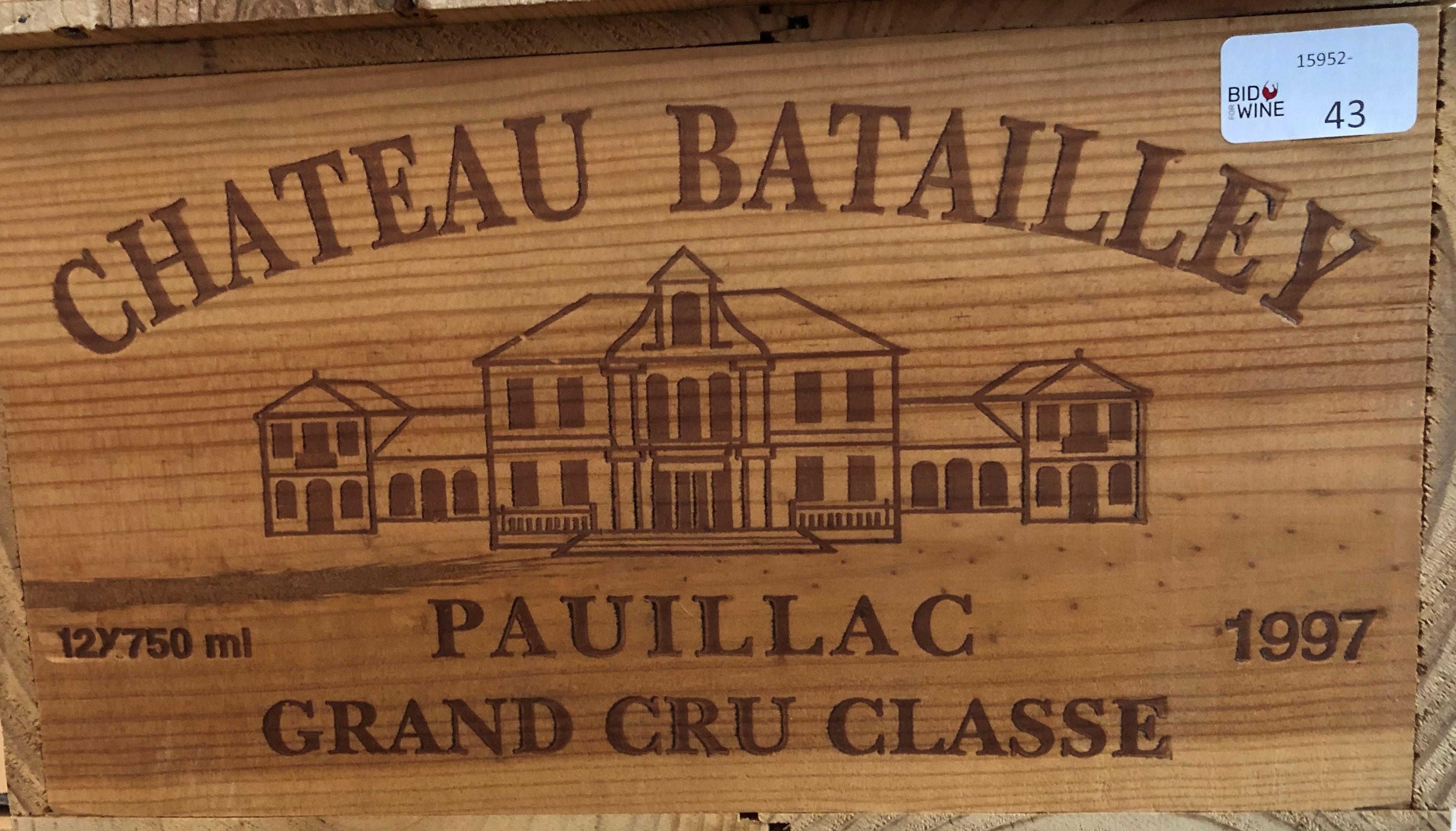 Lot 44 - 1997 Batailley, Pauillac, Bordeaux, France, 12 bottles